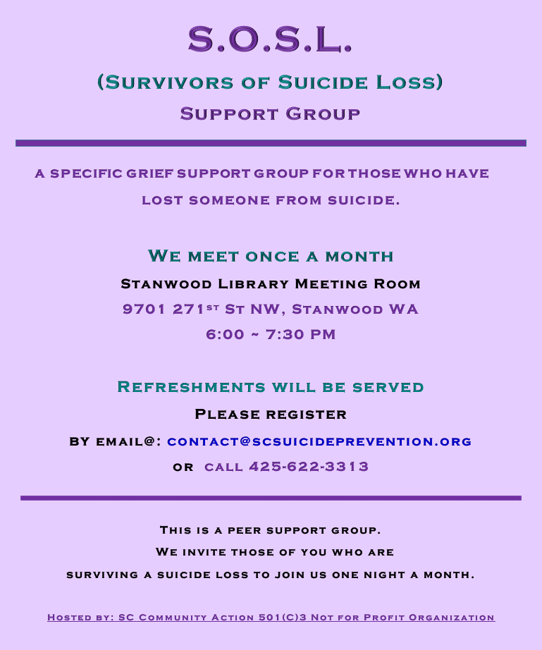 SOSL suicide loss support group